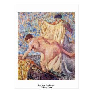 Sortez de la baignoire par Edgar Degas Carte Postale
