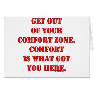 Sortez de votre zone de confort ! carte de vœux