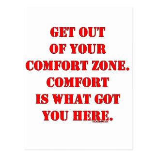 Sortez de votre zone de confort ! cartes postales