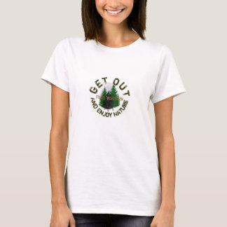 Sortez et appréciez les fourchettes de nature, t-shirt