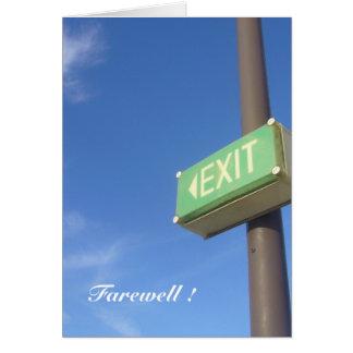 sortez l'adieu carte de vœux
