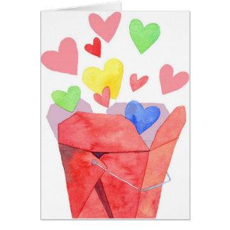 Sortez l'amour - carte de note