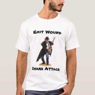 Sortez l'art de couverture d'attaque de requin de t-shirt