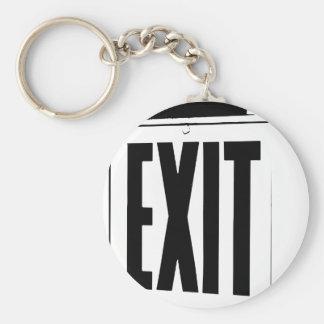 sortez le signe porte-clé rond