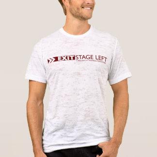 SORTEZ le T-shirt blanc vintage des hommes de côté