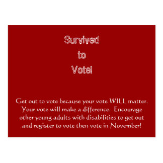 Sortez pour voter carte postale