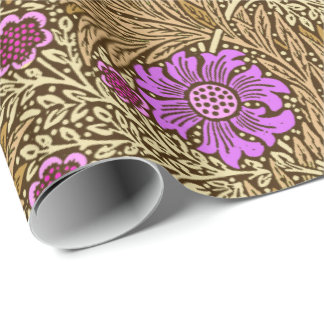Souci, Brown, beige et violette de William Morris Papier Cadeau