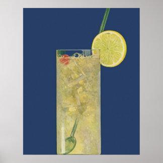 Soude vintage de limonade ou de fruit, boissons de poster