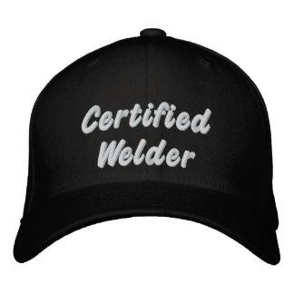 Soudeuse certifiée casquette brodée