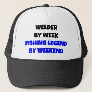 Soudeuse par légende de pêche de semaine par casquette