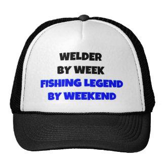 Soudeuse par légende de pêche de semaine par casquette de camionneur