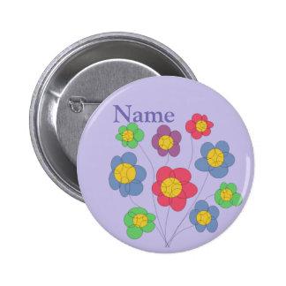 souffle de fleur - insigne/bouton badge