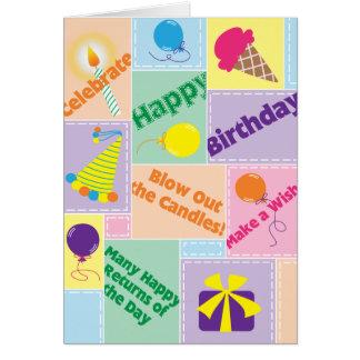 Soufflez les bougies ! - Carte d'anniversaire