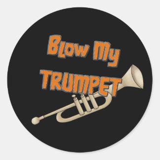 Soufflez ma trompette adhésif rond