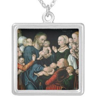 Souffrez les petits enfants pour venir à moi, 1538 pendentif carré