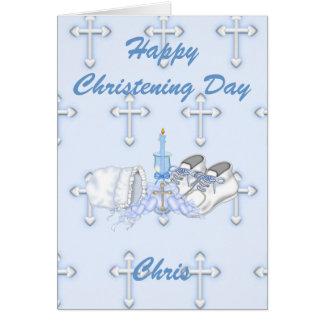 Souhait de baptême de garçons carte de vœux