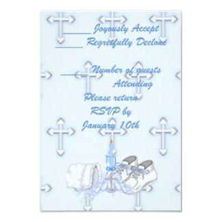 Souhait de baptême de garçons cartons d'invitation