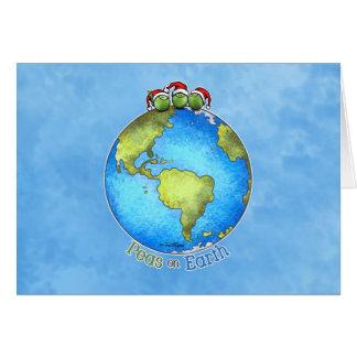 Souhait de Noël - paix sur terre Carte De Vœux