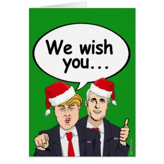 Souhait de penny d'atout vous Ameri-Noël Carte De Vœux