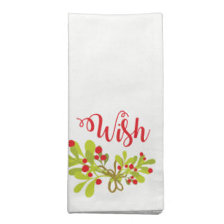 Souhait et serviettes de tissu de fête de vacances