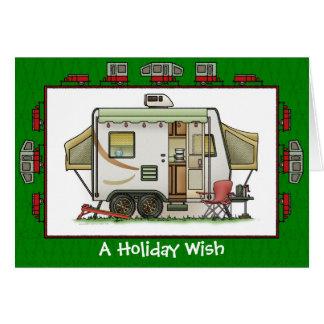 Souhait expansible de vacances de remorque de carte de vœux