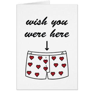 Souhait vous étiez ici. La carte de Valentine