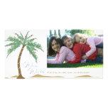 Souhaits chauds de Noël, plage de palmier Cartes Avec Photo