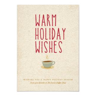 Souhaits chauds de vacances carton d'invitation  12,7 cm x 17,78 cm