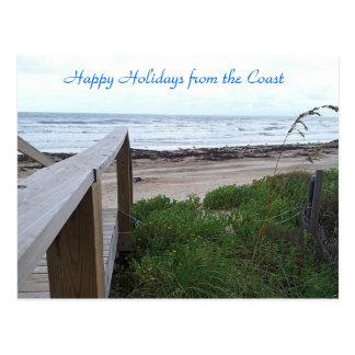 Souhaits chauds de vacances de la plage cartes postales