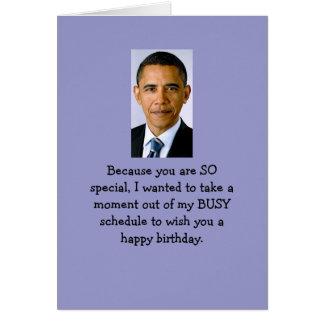 Souhaits d'anniversaire d'Obama Cartes