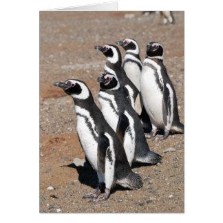 Souhaits de joyeux anniversaire de pingouin carte de vœux
