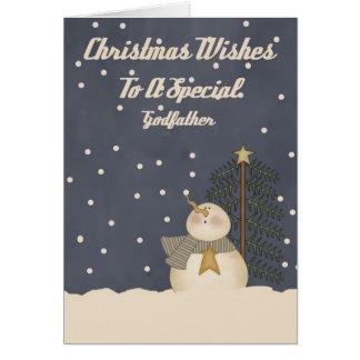 Souhaits de Noël à un parrain spécial Carte De Vœux