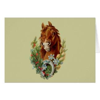 Souhaits de Noël de pur sang Carte De Vœux