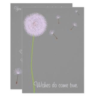 Souhaits de pissenlit pour un baby shower dans les carton d'invitation  11,43 cm x 15,87 cm