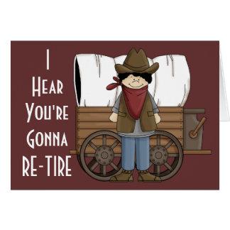 Souhaits de retraite de cowboy - humour occidental carte de vœux