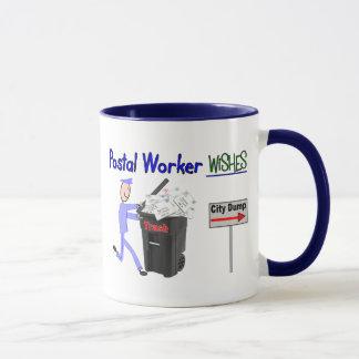 Souhaits de travailleur postal--Drôle Mug