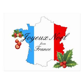 Souhaits et décorations de Noël sur la carte de la Cartes Postales