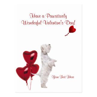Souhaits merveilleux #2 de Westie Pawsitively Cartes Postales