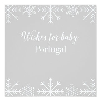 Souhaits pour le bébé - flocon de neige - carton d'invitation  13,33 cm