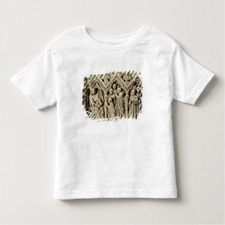 Soulagement dépeignant la présentation des moines t-shirt pour les tous petits