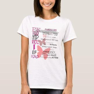 Soulagement d'inondation du Pakistan - rose et T-shirt