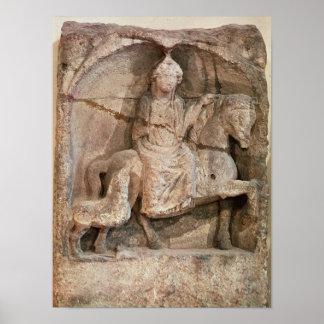 Soulagement représentant Epona, déesse gauloise Poster