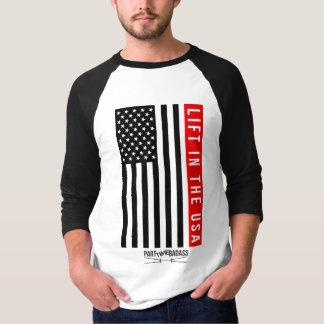 SOULEVEZ DANS BASE-BALL unisexe T de douille des T-shirt