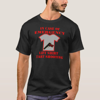 Soulevez en cas d'urgence le tir de début de t-shirt