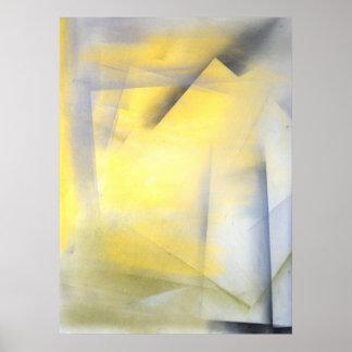"""""""Soulevez la copie grise et jaune de barre"""" d'art Posters"""