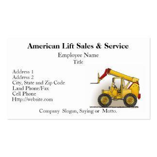 Soulevez les cartes d'entreprise de construction cartes de visite professionnelles