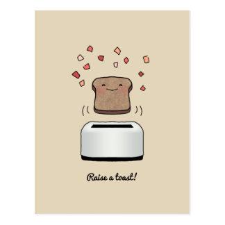 """""""Soulevez un pain grillé !"""" Carte postale"""