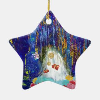 Source des joies ornement étoile en céramique