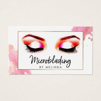 Sourcils créatifs chics Microblading d'aquarelle Cartes De Visite