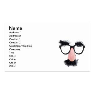 Sourcils de moustache en verre carte de visite standard